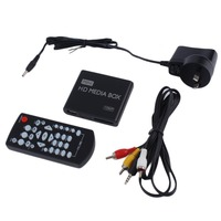 Mini Media Player Box TV Video Multimedia Player AU Plug Full HD 1080P HDMI USB Remove Support MKV RM SD USB SDHC MMC HDD HDMI