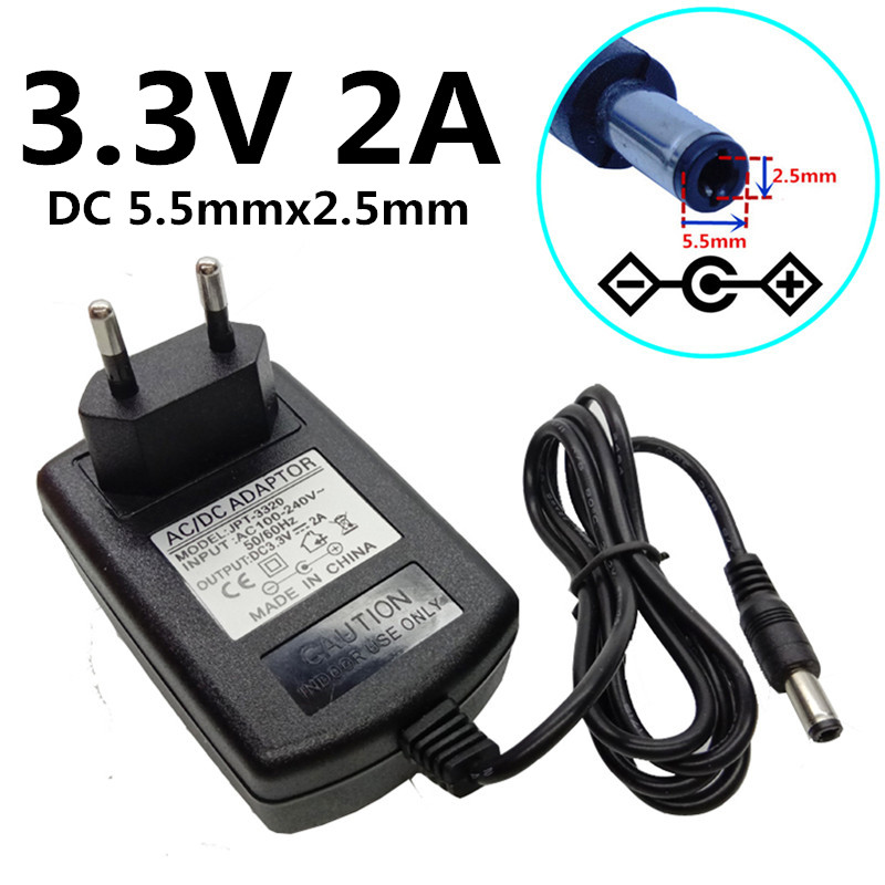 AC 100-240V 50-60Hz To DC 9V 2A Power Supply Converter Adapter 5.5mm x 2.5//2.1mm