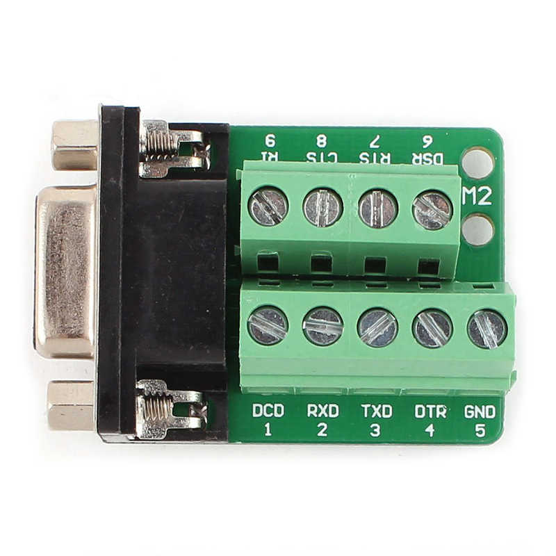 RS232 D-SUB DB9 メスアダプタ端子コネクタ信号モジュール #8