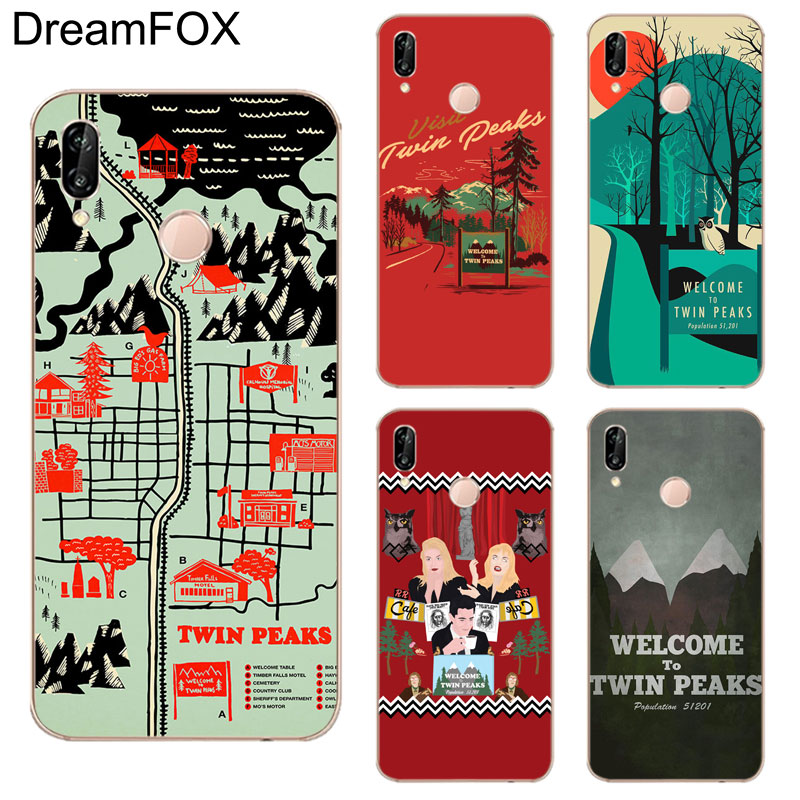 DREAMFOX K249 Twin Peaks Soft TPU Silicone Case Cover For Huawei Honor 6A 6C 7X 9 10 P20 Lite Pro P Smart