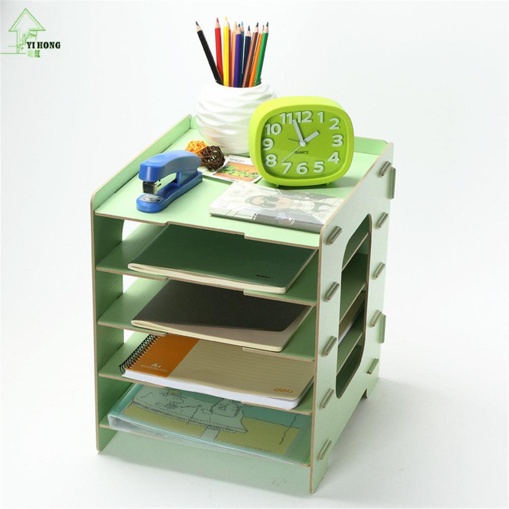 YIHONG bricolage supports de rangement en bois étagères décoratives meubles articles divers boîtes de rangement de bijoux livre magazines supports d'admission maison - 2