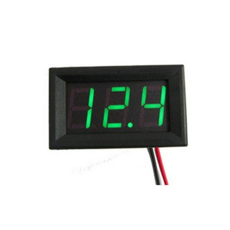 2019 Auto <font><b>Car</b></font> Mini Voltmeter Tester Digital Voltage Test <font><b>Battery</b></font> DC 0-30V Red/Blue/Green image
