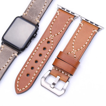 Cowhide Watchbands 38mm 42mm For iwatch Apple Watch Strap Band Accessories Genuine Leather Bracelet Black Buckle цена и фото