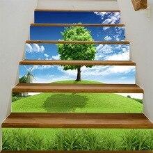 Pegatinas de árbol 3D para escaleras, pasillo, escaleras, escalera, adhesivo decorativo para piso, pegatinas de pared de PVC