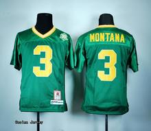 outlet store 04790 aeafc notre dame fighting irish 3 joe montana green throwback kids ...