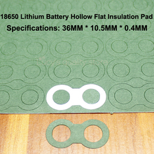 100pcs/lot 18650 Battery Positive Insulation Gasket Meson 1 String 2 3 4 And 5 Tandem Paper Mat