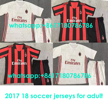Hot sale 2017 best Quality AC adult kit 17 18 Home Away 3RD Soccer Jersey Milan kit Shirt Free shipping