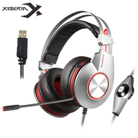 XIBERIA K5 Gaming Headset Gamer Computer Stereo USB Headphones With Surround Sound Flexible Microphone Mic Fone