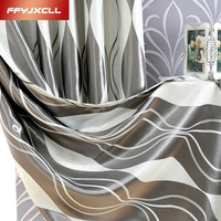 Striped Jacquard 4 Color Curtains For living Room Bedroom Blackout Curtains Window Treatment Drapes Home Decor