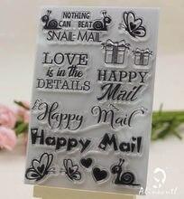 Alinacrad – timbres-poste de Scrapbooking, papier artisanal, rouleau en caoutchouc, en silicone transparent