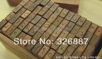 Holzstempel alphabet digitalen und Briefe dichtung 70 stück handwrite Form briefmarken diy Scrapbooking/karte machen dekoration