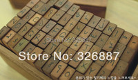 Wooden Stamps AlPhaBet Digital And Letters Seal 70 Pcs Set Handwrite Form Stamps DIY Scrapbooking Card