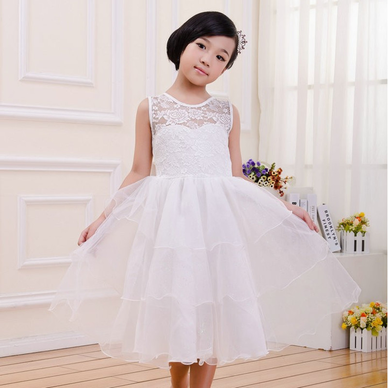 1592d1872 2018 الصيف الأطفال الفتيات أكمام الشيفون الدانتيل اللباس الاطفال حفل زفاف  رسمي ثوب الأميرة 90-140