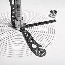 Multi-Funktion Zeichnung Werkzeuge Kit Vielseitig Zeichnung Gebogene Magnetische Lineal Werkzeug Kompass Winkelmesser Combo Muster Für Architekten
