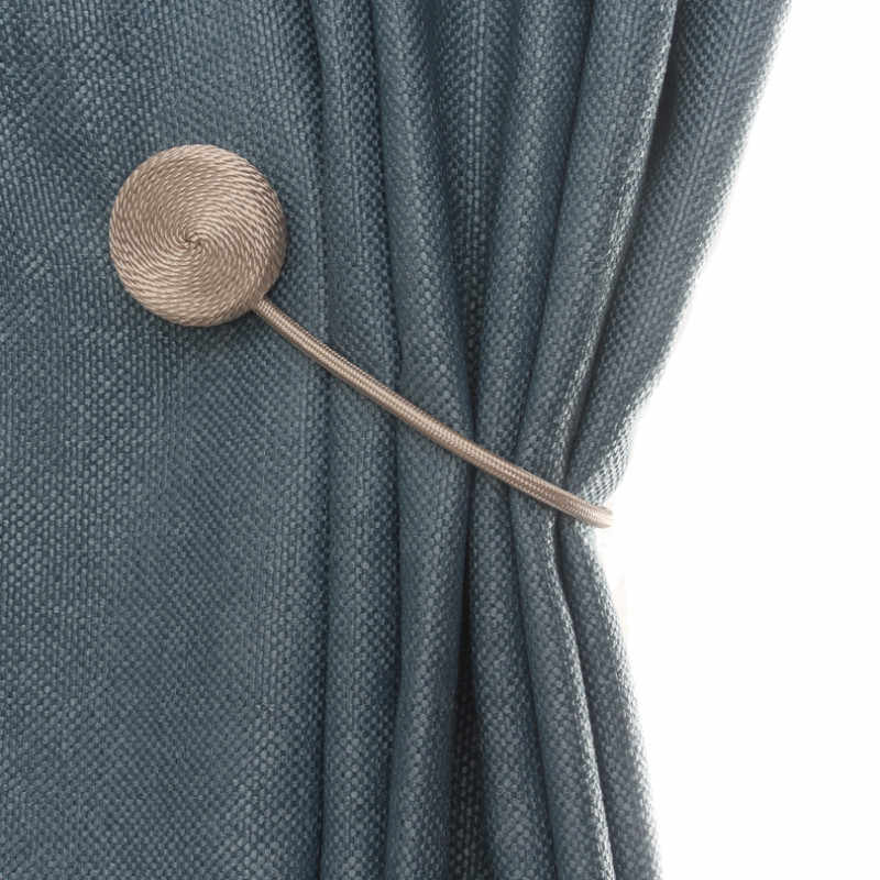 Simple Round Fabric Curtain Buckle European Curtain With Magnetic Curtain Magnet Support Curtain Accessories 1PCS