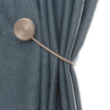 Proste okrągłe tkaniny kurtyny klamra europejska kurtyna z magnetycznym kurtyny magnes wsparcie akcesoria do zasłon 1 sztuk tanie i dobre opinie Karnisze Utworów i akcesoria maszyna do drukowania Włosy syntetyczne Metal Curtain Tie Backs Kurtyna Tie Backs i Frędzle