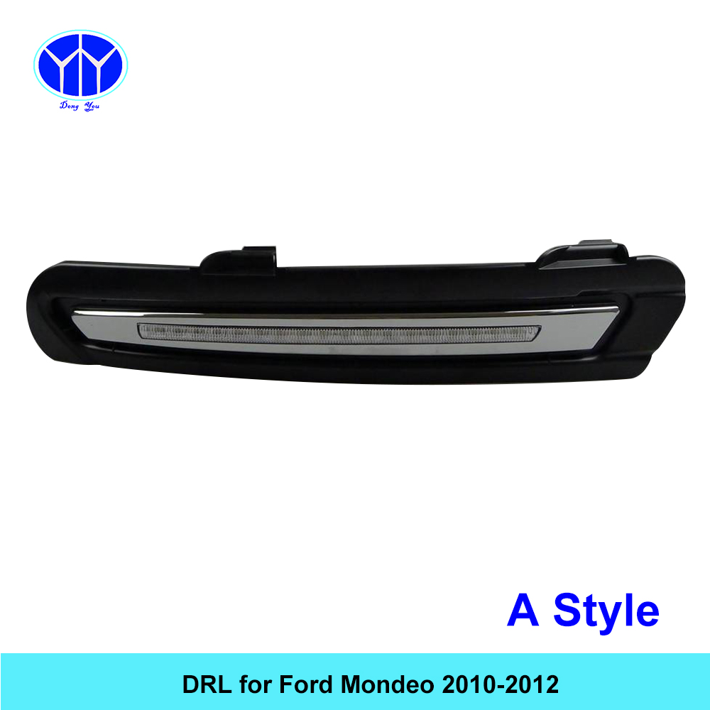 Car DRL KIT for Ford Mondeo 2010 2011 2012 LED Daytime Running Light bar Relay auto fog lamp super bright daylight car led drl 1 piece rh front fog light for ford mondeo mk4 2011 2012