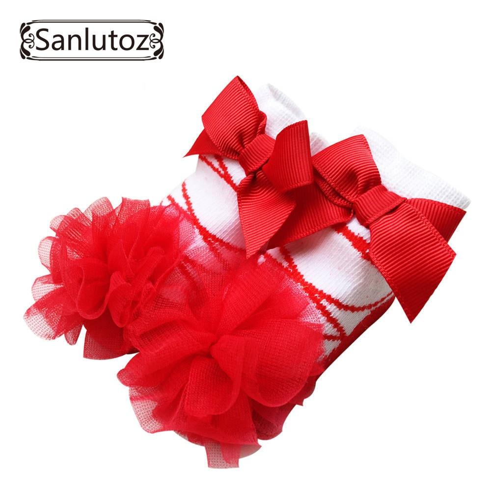 Sanlutoz-chaussettes pour bébés filles | Chaussettes pour nouveaux-nés de princesse, cadeaux d'anniversaire pour bébés filles de 0 à 12 mois