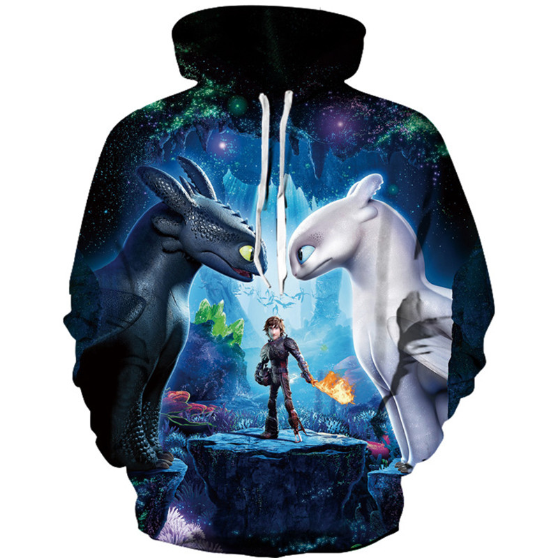 Teenmiro 2019 Unicorn Wolf 3D Print Boys Girls Hoodies
