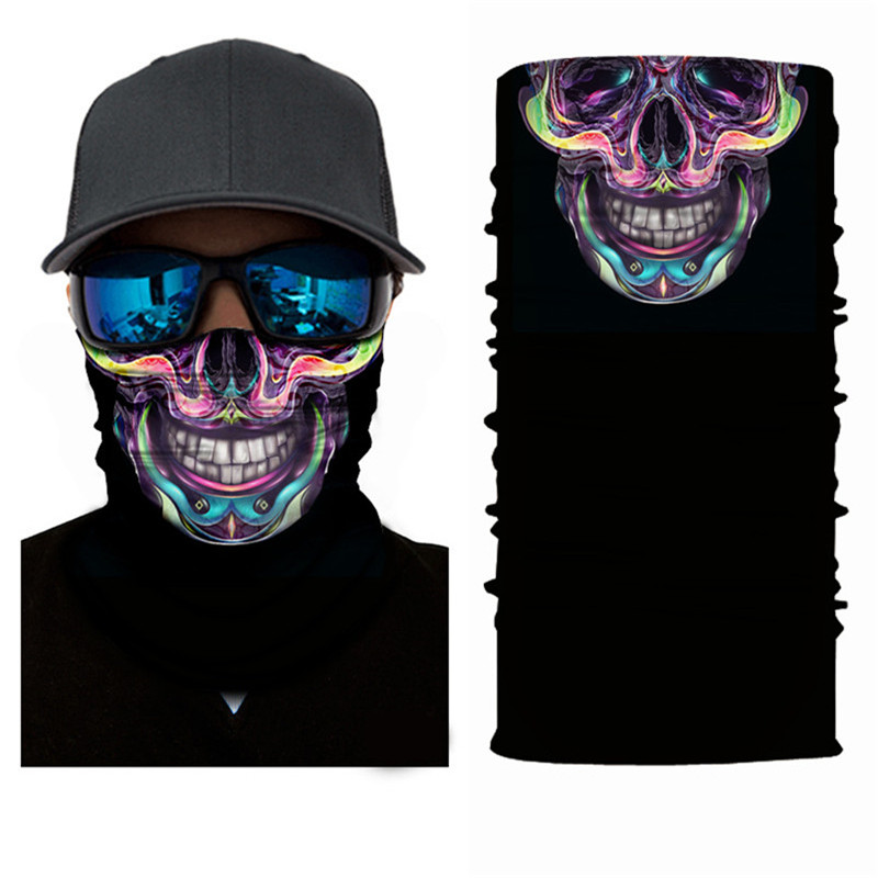 2018 3d Seamless Magic Skull Bandana Mask Headband Cycling Magic Bandanas Headwear Head Scarf Pleasant In After-Taste Apparel Accessories