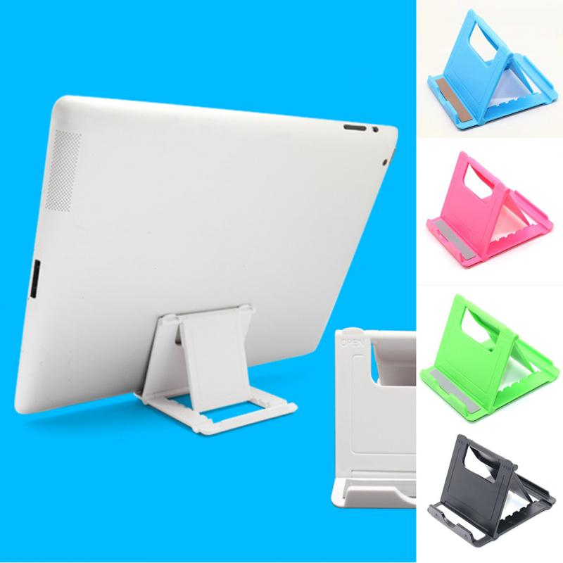 High Quality White Universal Adjustable Folding Lightweight Non-slip Rubber Desk Holder Stand Support For Ipad Smartphone Tablet Mobile Phone Holders & Stands