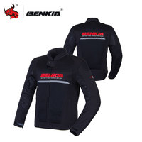 BENKIA Summer Motorcycle Jcaket Men Racing Clothes Spring And Autumn Mesh Breathable Moto Jacket Motorcycle Protective
