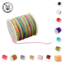 Pandahall 1roll Braided Nylon Cord Imitation Silk String Thread DIY Jewelry Finding Making Nacklace Bracelet Accessories yyw 0 15mm 2 yarn jewelry diy making cord thread silk beading thread pearl string 900m spool nylon cord costume jewelry thread
