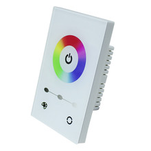 DC 12-24V Touch Panel Full-color Dimmer Controller Wall-mounted led  Switch for 3528 5050 RGB LED Strip Light Lamp