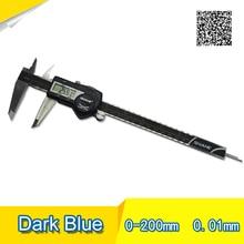 Best price Free shipping Digital Caliper IP54 200mm Dark blue High quality Digital display calipers 0-200 digital vernier caliper