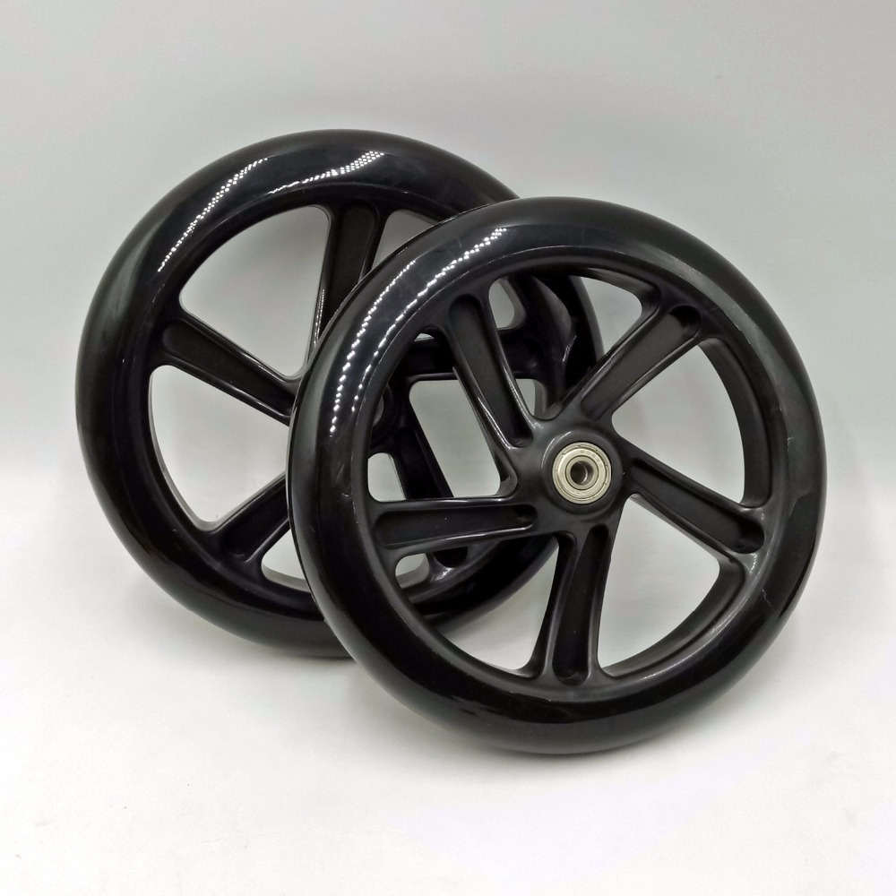 2pcs pair Free Shipping 200X40mm PU Wheel Scooter Wheel High Quality Contains ABEC 9 Bearings and