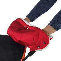 Plush Stroller Hand Muff Waterproof Warm Gloves Black