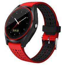 V9 Smart Watch with Camera Bluetooth Smartwatch SIM Card Pedometer Wristwatch for Android Phone Wearable Devices pk dz09 A1 Y1
