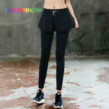 HUCOINHOW Women Sports Leggings Fitness Clothes Bodybuilding Outdoor Quick-Dry Gym Running Pants High Waist Exercise Yoga Pants