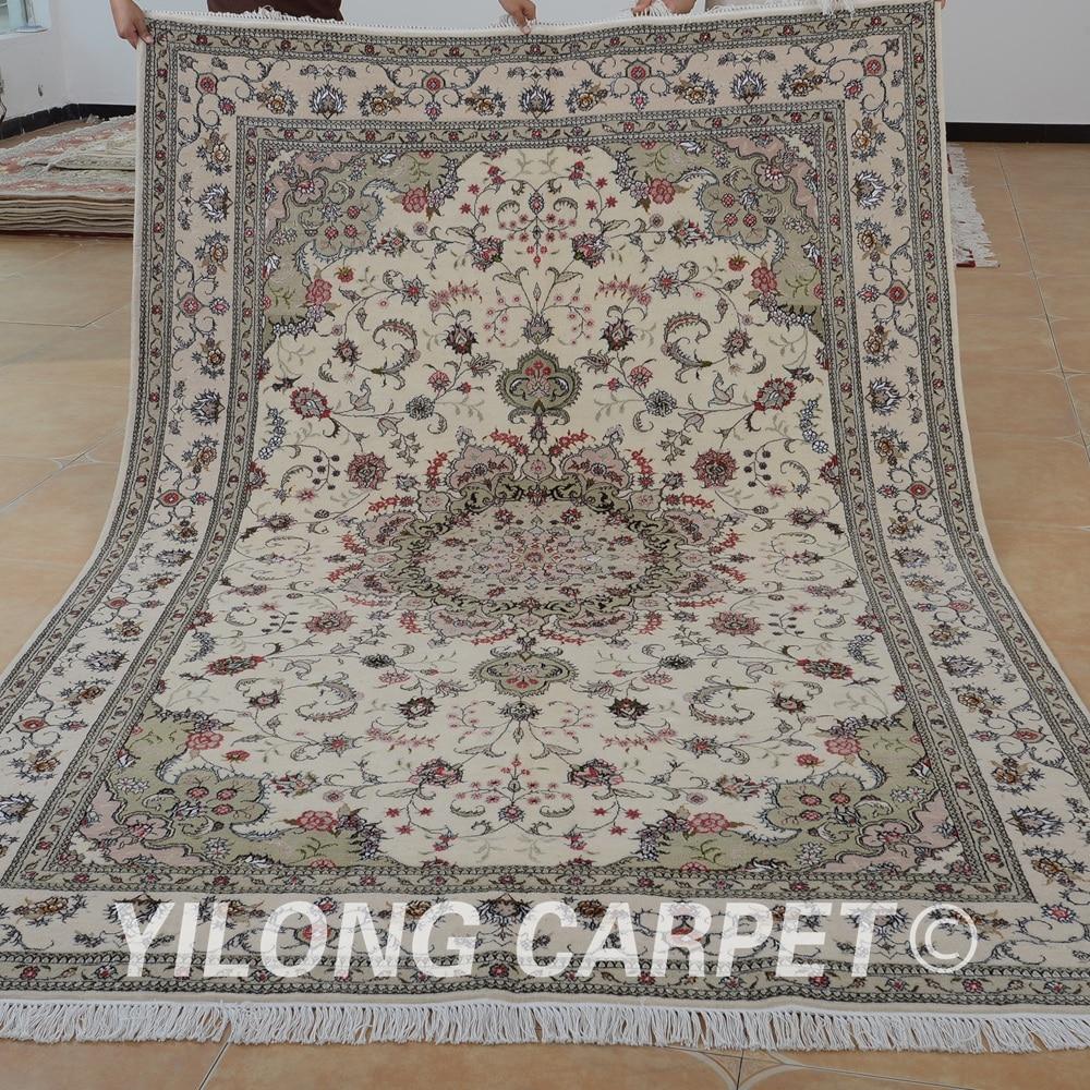 Yilong 6x9 Oriental Handmade Wool Carpet Exquisite Hand