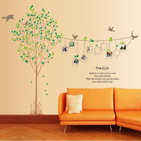 An Unforgettable Moment Large Size Family Picture Photo Frame Tree Wall Art Stickers Vinyl Decals Home