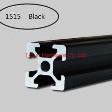 Черный алюминиевый профиль алюминиевый экструзионный профиль 1515 15*15 обычно используется в сборке рамы устройства, стола и выставочного стенда