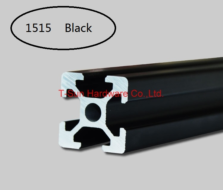Black Aluminum Profile Aluminum Extrusion Profile 1515 15*15 Commonly Used In Assembling Device Frame, Table And Display Stand