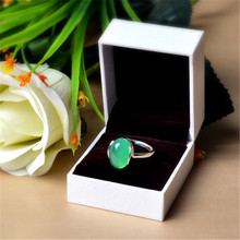 Green chalcedony ring fashion Jewelry 925 silver green Natural rings  resizable size weddings stone