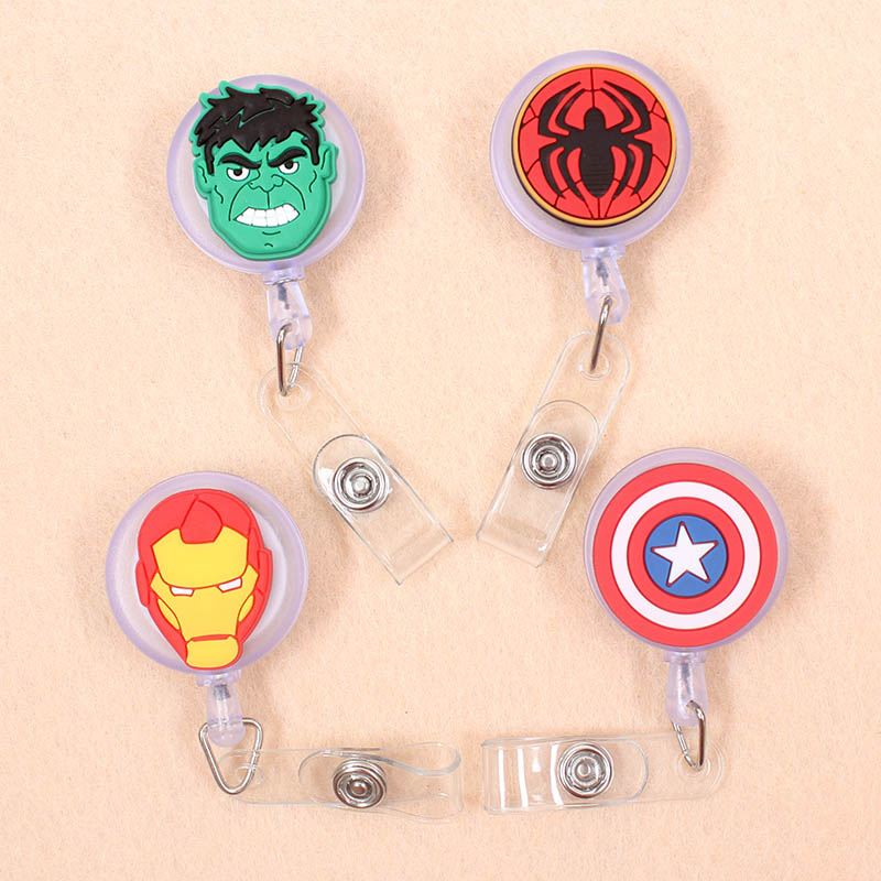 1pcs The Hulk Animals Retractable Badge Reel Student Nurse Horizontal Type Exhibition ID Name Card Badge Holder Office Supplies