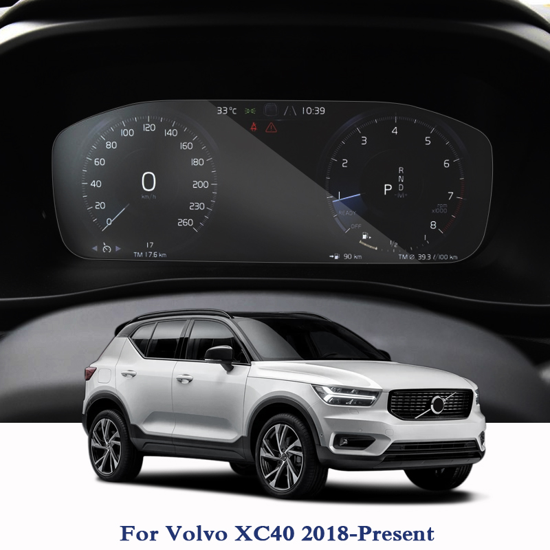 For Volvo XC40 2018-Present GPS Navigation Screen Glass Protective Film Dashboard Display Film Internal Car Accessories Stickers