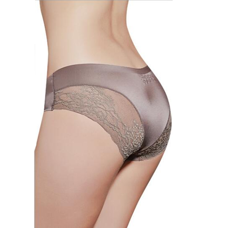 Sexy Lace   Panties   Seamless Women Underwear Briefs Nylon Silk for Ladies Bikini Low Rise Lingerie Sexy Underwear 1 pc
