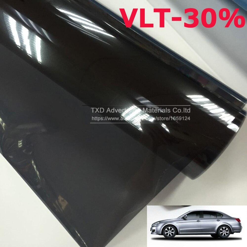 50cmx300cm lot car side window tint film glass vlt 30 for 2 ply window tint film