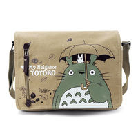 YOUYOU MOUSE Totoro Crossbody Bag Unisex Messenger Bags Canvas Shoulder Bag Cartoon Anime Neighbor Men Women