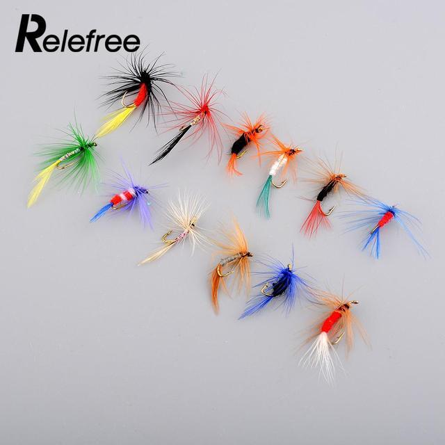 12 Stks Lokt Vliegvissen Haken Vlinder Insecten Stijl Zalm Vliegen