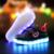 Novo 2017 led crianças luminosas sapatilhas meninas meninos plano casual shoes com luzes Para Crianças bebê moda infantil 7 cores de carga USB