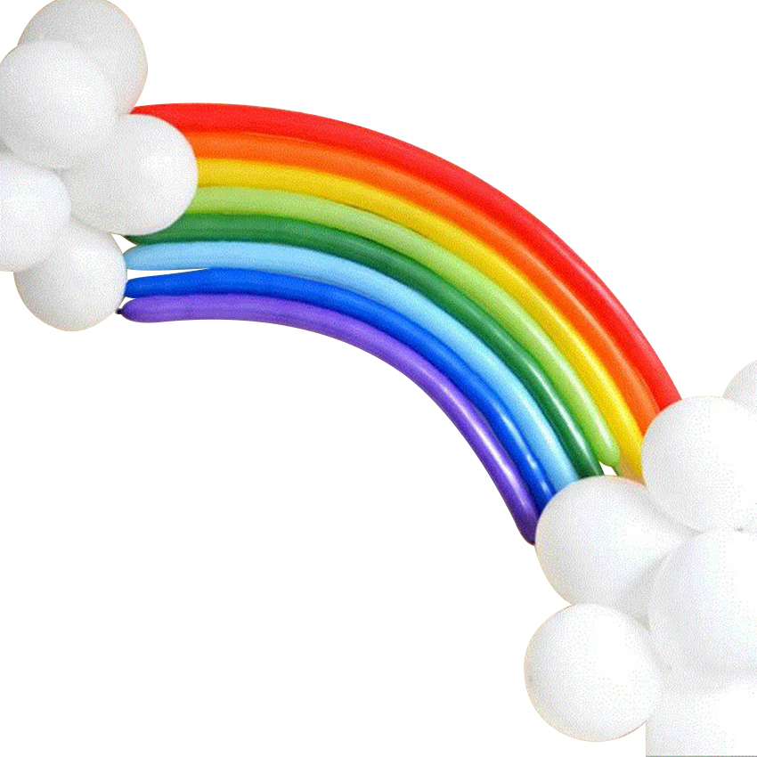 Online kaufen gro handel regenbogen ballons aus china for Regenbogen dekoration