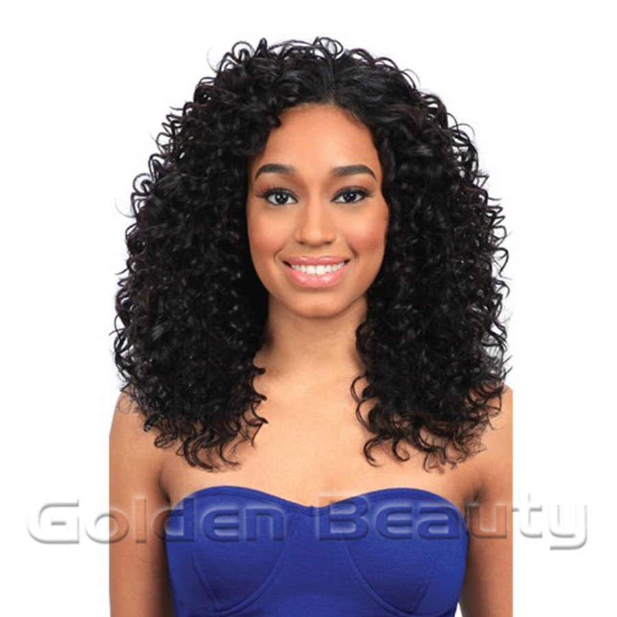 golden beauty 16inch deep wave weave synthetic hair extension sew