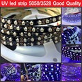 5M 395nm UV Ultraviolet Led strip 5050 3528 SMD Purple 60leds/m 120leds/m Flexible Strip Light 12V White/Black PCB free shipping