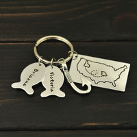 Personalized Fishing Keychain, Father's Day Gift, Father's Day Keychain, Custom Keychain, Christmas Gift