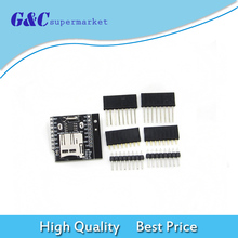 5pcs Micro SD For Wemos D1 Mini Data Logger Shield + RTC DS1307 Clock For Arduino/Raspberry clock shield rtc module ds1307 module multifunction expansion board with 4 digit display light sensor and thermistor for arduino